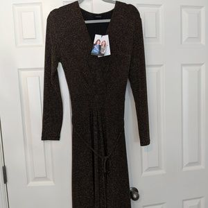 Who What Wear floor length, maxi wrap dress M